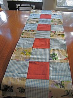 Quilted table runner, Remix by Bec @Barb (RetroBabs Vintage) Heine $15