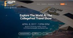 The CollegeFest Travel Show is Saturday April 8!  This event is exclusively for college students and will feature exhibitors like airlines, study abroad programs, gap year companies, travel products and more. Come plan your next adventure, whether it takes you across the state or around the world!  http://collegefest.com/travel/