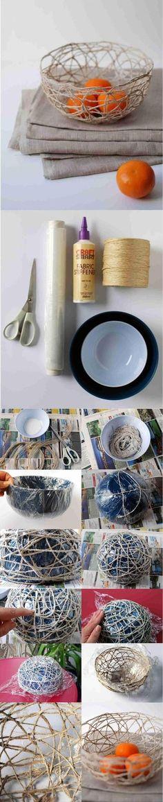 DIY twine bowl