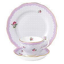 Royal Albert Candy Collection Love Lilac Teacup, Saucer, 20cm Plate Set