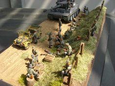 Plastic model diorama ww2
