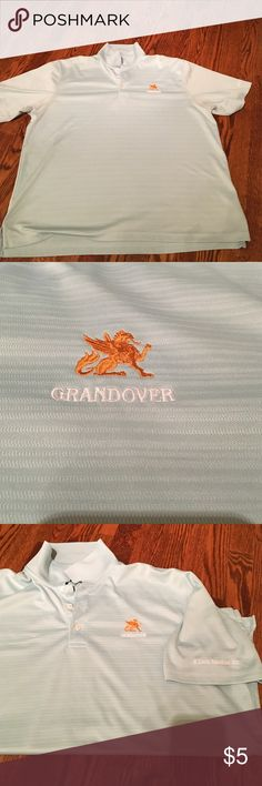 Men's golf shirt Light blue gold shirt. Has the grandover on cheat of shirt. Used condition!! Shirts Polos