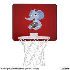 Birthday elephant cartoon mini basketball hoop