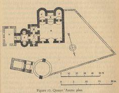 Plan de Qusayr Amra (« petit château rouge »), Jordanie, 711-715, règne d'al-Walid Ier (705-715).