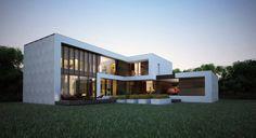 ДОМ В ПОСЕЛКЕ ЛАЗУРНОЕ : Дома в стиле минимализм от Aleksandr Zhydkov architect