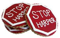 Take a bite out of the Harper Agenda - The Council of Canadians Cookie Designs, Human Rights, Cookie Decorating, Drink Sleeves, Cookies, Icing, Canada, Decorations, Food