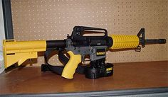 This thing has blood and carnage written all over it. It's ideal for fixing up the house if you don't mind everyone inside ending up dead as a doornail. It can send a 6-D nail through a 2 x 4 at 200 yards, and as it's creator David Wiggins points out, you could literally sit in your lawn chair while building a fence.