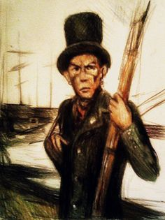 Queequeg (Moby Dick) by elicenia.deviantart.com on @DeviantArt