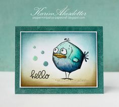 Peppermint Patty's Papercraft: I'm Bird Crazy – Inspiration Emporium - Karten Basteln Dog Cards, Bird Cards, Crazy Bird, Crazy Cats, Tim Holtz Stamps, Mix Media, Scrapbooking, Animal Cards, Copics