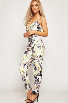 0fecee7cdc7d Amanda Floral Crepe Strappy Wrapover Jumpsuit