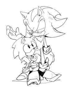 """Here, Sonic, just come with me. *Walks by Shadow and whispers* """"You are welcome"""""""