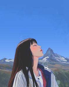 Anime Art Aesthetic – Block to CoronaVirus! Aesthetic Drawing, Aesthetic Art, Aesthetic Anime, Korean Aesthetic, Aesthetic Japan, Aesthetic Pictures, Colorful Drawings, Cute Drawings, Animes Wallpapers