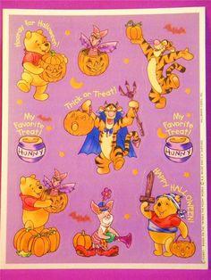 Hallmark Vintage Disney Winnie The Pooh Halloween Stickers