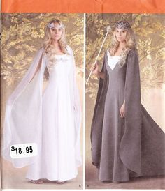 Galadrial Costume PATTERN 1551 Simplicity Sz 8-24 LOTR Elf Wizard Queen Dress | Clothing, Shoes & Accessories, Costumes, Reenactment, Theater, Reenactment & Theater | eBay!