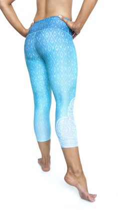 Let your inner goddess come out with these ocean-inspired Inner Fire capris! For those of you who just don't love full length leggings year round, we are pleased to offer you a more summer friendly ve