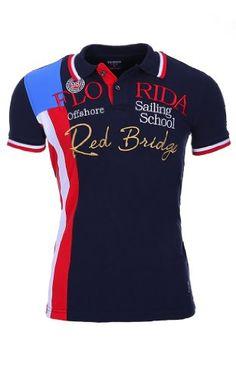 Redbridge by Cipo & Baxx Polo Herren T-Shirt Poloshirt Kurzarm Hemd Slim Fit S-M-L-XL-XXL (L, Blau)