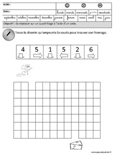 Espace : Se déplacer sur un quadrillage à l'aide d'un code (GS) Sunday School Activities, Preschool Activities, Maze Puzzles, Coding For Kids, Math Games, Maths, Brain Teasers, Computer Science, Perception