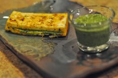 Cilantro Chutney and Barbecued Stuffed Paneer Cilantro Chutney and Barbecued Stuffed Paneer