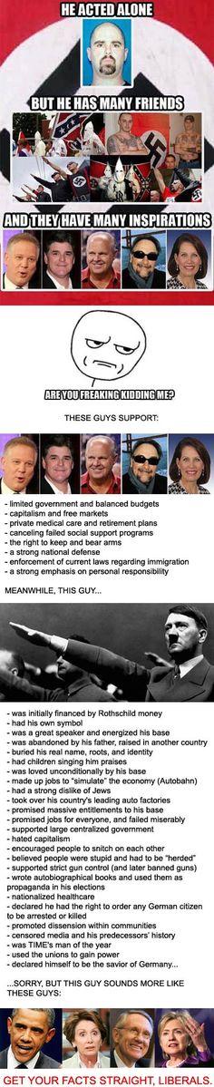 Obama=Hitler Hitler=Obama Mmmm..nope, no difference