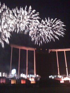 Kansas City Royals Stadium (after baseball game fireworks)