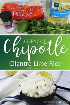 Copycat Chipotle Cilantro Lime Rice tastes just like the real thing, maybe even better! You won't believe how easy it is to make this recipe at home with just a few simple ingredients. Side Dishes Easy, Side Dish Recipes, Easy Dinner Recipes, Fall Recipes, Chipotle Lime Rice, Cilantro Lime Rice, Healthy Snacks, Healthy Recipes, Yummy Recipes