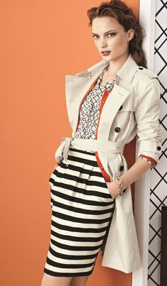 A freshly cut tulip skirt in bold stripes | Banana Republic