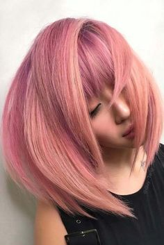 Light Purple & Rose Gold Bangs ❤ A rose gold hair color is often. Rose Gold Hair, Pink Hair, Blonde Hair, Purple Rose, Light Purple, Guy Tang, Hair Job, Gold Hair Colors, Cool Hair Color