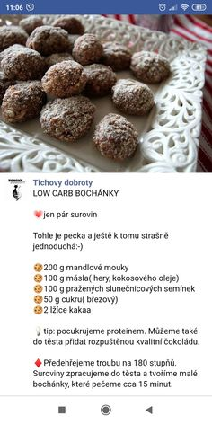 Low Carb Diet, Diet Recipes, Almond, Breakfast, Food, Morning Coffee, Eten, Almond Joy, Skinny Recipes
