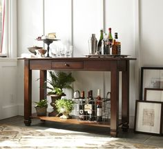 I was thinking in doing the exact same thing!!! with an extra console table that I have. =)