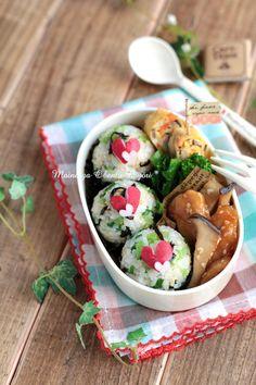 ラディッシュハートのおにぎり弁当~女の子のお弁当~ by あ〜るママさん   レシピブログ - 料理ブログのレシピ満載!