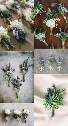 trending wedding boutonniere ideas with lavender