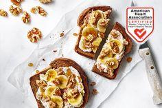 Ricotta, Banana, Walnut, and Honey Toast - California Walnuts Breakfast Toast, Breakfast Recipes, Breakfast Ideas, Brunch Ideas, California Walnuts, Honey Toast, Walnut Recipes, Banana Slice, Ricotta