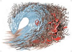 Wave by Adam Haynes - might use when teaching about waves, destruction, narrative art,etc