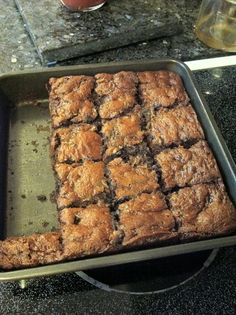 Zucchini Brownies. I recommend melting the chocolate chunks and mixing into the batter and then adding extra chunks.