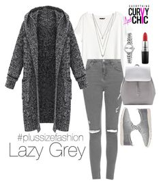 Lazy grey by ecac on Polyvore featuring polyvore, fashion, style, H&M, Topshop, TOMS, Zara, Forever 21, Accessorize and MAC Cosmetics