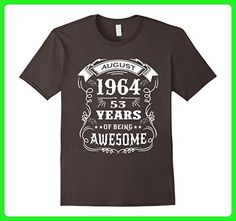 Mens 53rd Birthday Gift - 53 years of being awesome T-Shirt Small Asphalt - Birthday shirts (*Amazon Partner-Link)