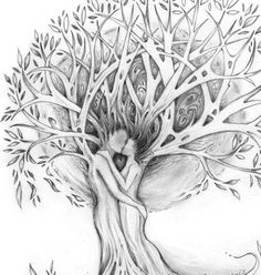 Tree of Love Tattoo design original romantic tree drawing of lovers with celtic knot design CUSTOMIZABLE Family Tree design Black And White Drawing, Black And Grey Tattoos, Tree Tattoo Designs, Tattoo Tree, Tattoo Ink, Arm Tattoo, Roots Tattoo, Family Tree Designs, Willow Tree Tattoos