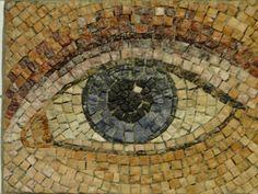 Displaced eye mosaic in NYC subway