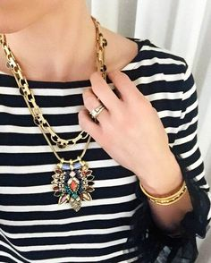 Amp up your Friday night look with this stunning #YorkStatementNecklace! #stelladotstyle by @carleenp82