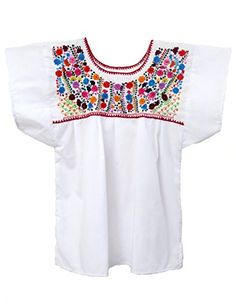 81152a70e766 Mexican Blouse Puebla by Ethnic Identity at Amazon Women s Clothing store   CottonMexican BlouseTeesFloral ...