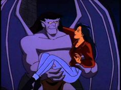 Goliath and Elisa from Disney's Gargoyles