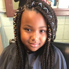 Braids are always attractive and appear beautiful. But styling your hair with one or two braids seems banal. And kids always love style and beauty in their… Black Kids Braids Hairstyles, Childrens Hairstyles, Little Boy Hairstyles, Sporty Hairstyles, Natural Hairstyles For Kids, Trending Hairstyles, Loose Hairstyles, Hairstyles Haircuts, Braid Hairstyles