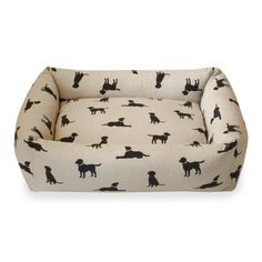 Combination Bolster Dog Bed - Deluxe Fabric Range from #HugoandHennie http://www.hugoandhennie.com/beds-1/combo-deluxe-range.html