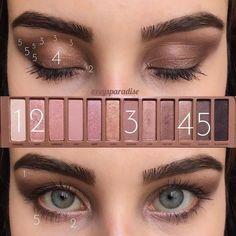 How To Do Eyeshadow, Natural Eyeshadow, Urban Decay Eyeshadow, Urban Decay Makeup, Eyeshadow Looks, Eyeshadow Tutorial Natural, Beginner Eyeshadow, Makeup Dupes, Eyeshadow Makeup