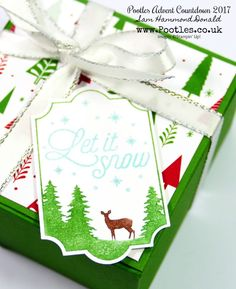 Pootles Advent Countdown #19 Ikea Candle No Glue Tuck & Close Box Tutorial. Click through for more project details! #handmade #christmas #smallgift #craft #stampinup #pootles