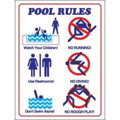 Swimming pool rules and regulations signs pool in 2019 - Rules and regulations of swimming pool ...