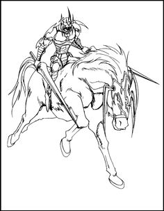 Yu-Gi-Oh Gaia The Fierce Knight coloring picture for kids