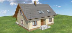 Projekt domu Amor 117,31 m2 - koszt budowy 189 tys. zł - EXTRADOM Shed, Outdoor Structures, Amor, Barns, Sheds