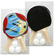Comprar Set de Ping-Pong 2 Palas   3 Pelotas al mejor precio. El set de ping-pong contiene 2 palas y 3 pelotas de tenis de mesa. Las palas de ping-pong tienen 1 estrella y permiten un gran control de la pelota. Con este set de ping-pong podrá disfrutar con sus amigos de su deporte favorito.