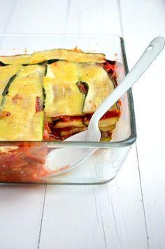 Het Voedselzandloper Kookboek - Groente Lasagna | Zucchini Lasagna #Healthy #vegetables #nocarbs
